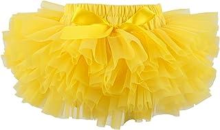 Slowera Baby Girls Soft Tutu Skirt (Skorts) 0 to 36 Months (L: 12-24 Months, Yellow)