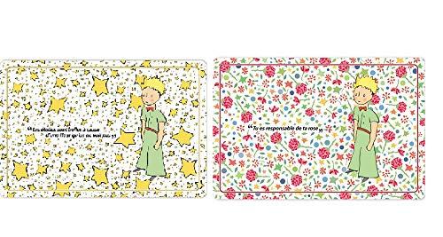 Le petit prince - Lot de 2 Sets de Table La Rose & Les Étoiles - 45x30cm