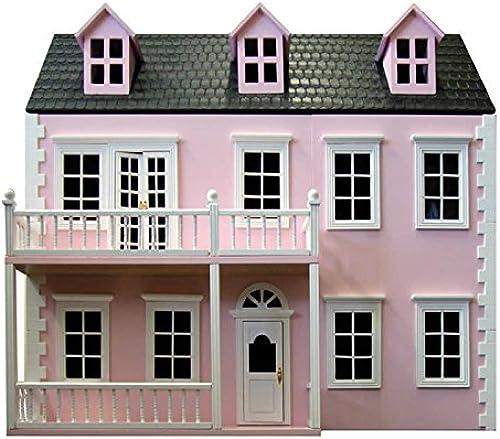 GLENSIDE GrünGE Puppenhaus, Rosafarben, mit zWeißEtagen
