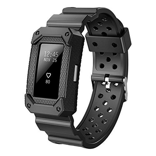 X-MARKET Bandas de repuesto para Fitbit Charge 2, X4-TECH, accesorios de fitness resistentes para Fitbit Charge 2 HR (NO TRACKER), color negro