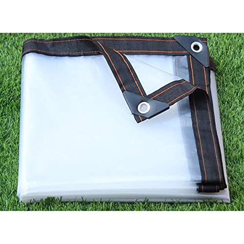 DPLLM Lona Impermeable Transparente, Lona de protección Universal PE a Prueba de Lluvia Resistente al Agua Lona Impermeable con Ojales y Lonas (Color : Transparente, Size : 4x6m)