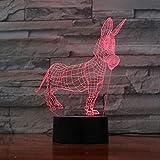 Luz De La Noche Donkey-remote Gratis La Luz Nocturna De 7 Colores Toca La Luz De Decoración De La Mesa De Imagen Óptica, La Luz Ambiental De La Barra Del Dormitorio