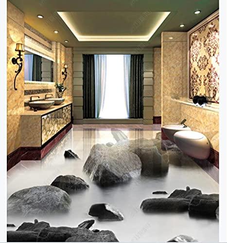 Pegado a las baldosas de piso de la cocina Vinylstone Xiaoxi Baño 3D Floor Tile-200 * 140Cmfloor Pintura al óleo Piso Sala de estar