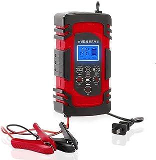 Bilbatteriladdare Underhåll 12V 24V,3-stegs automatisk batteriladdare av blybatterier (röd)
