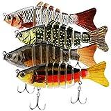 yidenguk 4 Pezzi Esche Artificiali da Pesca, Multi-Snodato Esche da Pesca Ami da Pesca per...