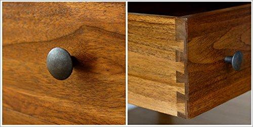 サイドボードオープンラックリビングボード無垢天然木おしゃれアジアンモダンオープンシェルフ北欧飾り棚本棚完成品チークミドルフリーラックA[wat8441]