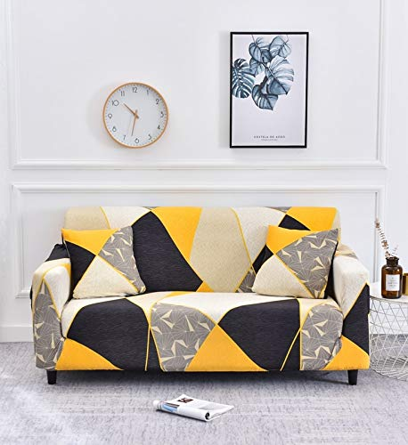 Sofa cover stretch sofa cover leaf print all-inclusive sofa cover sofa L-shaped sofa cover with different patterns A19 1 seater