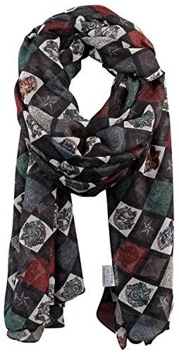 HARRY POTTER Blason Femme Foulard Multicolore, 100% Polyester,