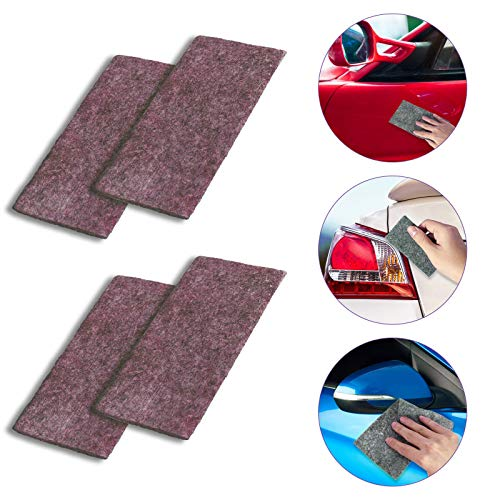 LIUMYARTISTORE Nano Car Scratch Remover Cloth, Car Paint Scratch Remover Cloth, Multipurpose Nano Magic Repairing Cloth(red)