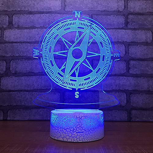Neon Lights Bar timón de Barco Lámpara 3D Visual Led 16 Cambios de Color 3D LED Luces Regalo de cumpleaños Navidad