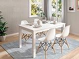 Mesa de Comedor Extensible Kata de 135x90 cm. Blanco Polar