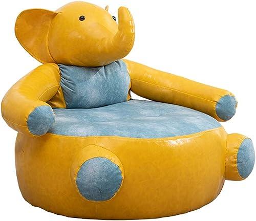 Tienda de moda y compras online. Lanrenjie Elephant's Arms, Silla para Niños, Sofá Perezoso, Cuero De De De PU De Marco De Madera Maciza, Lindo Y Creativo,amarillo  más descuento