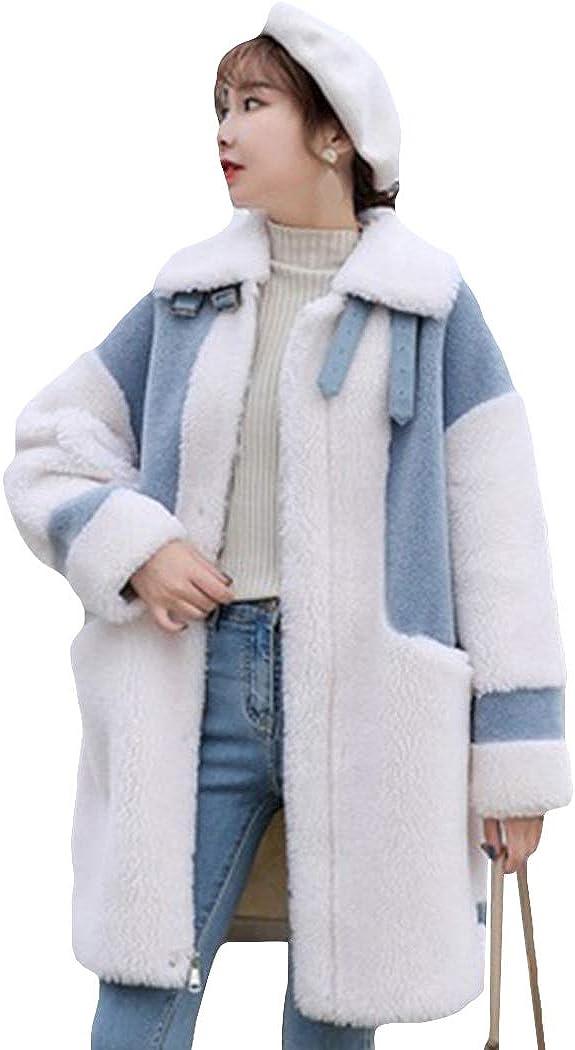 Women's Faux Fur Coat Fluffy Plush Warm Coat Loose Outwear