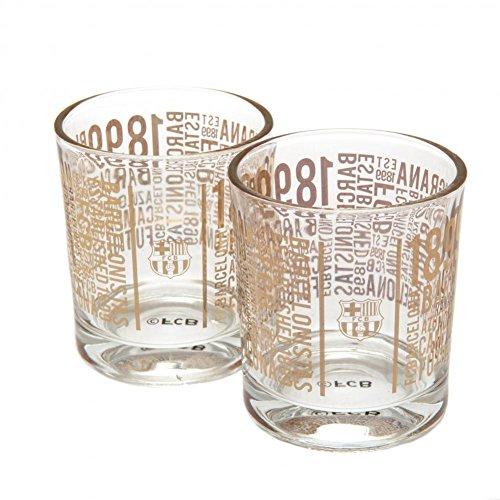 2 vasos de whisky del F.C. Barcelona,...