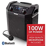 xl 1000 singer - ION Audio Block Rocker Plus | 100W Portable Speaker, Battery Powered with Bluetooth, Microphone & Cable, AM/FM Radio, Wheels & Telescopic Handle and USB Charging For Smartphones & Tablets