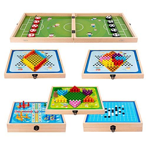 Rompecabezas multifuncional Ajedrez de parachoques,interruptor de 6 modos,juego de batalla de mesa,tema de fútbol,juego de ajedrez Fast Sling Puck, ajedrez que rebota, gobang,máquina voladora, damas