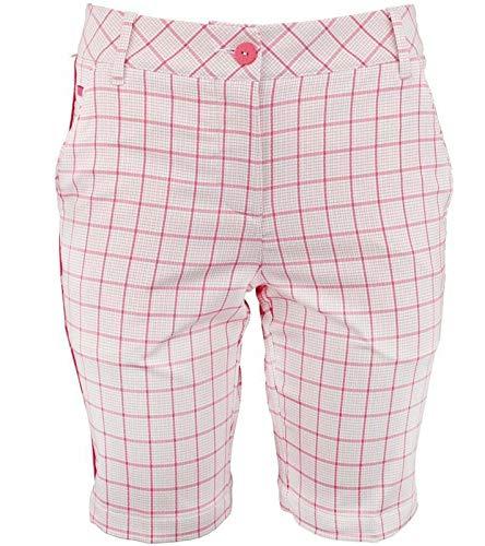 PUMA Hose Bermuda Karierte Damen Golf-Shorts Golf-Hose Sommer-Hose Tech Weiß/Rot, Größe:44