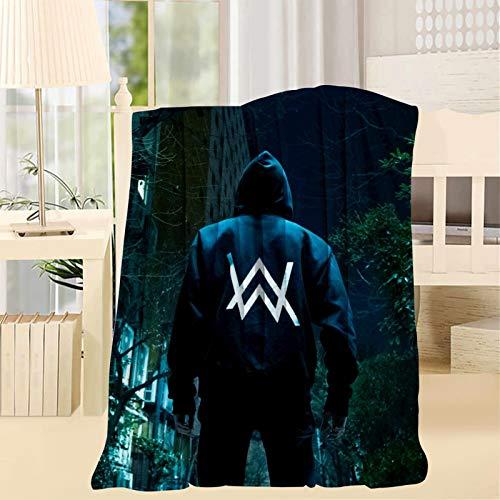 Zooshum Al-an Wa-lk-er Soft Plush Throw Blanket - Super Fuzzy Warm Lightweight Thermal Fleece Blankets for Couch Bed Sofa All Season