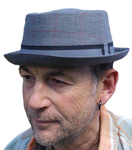 Vectis Thorness Rude Boy/Ska Pork Pie Hat - Grey Size 57cm