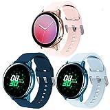 XIMU Compatible con Samsung Galaxy Watch Active 40mm Correa/Active 2 Correa/Galaxy Watch 42 mm Correa,Silicona de Sport Mujeres Ccorreas de los Hombres de Galaxy Watch