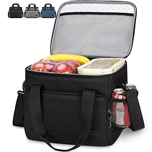 Lubardy 15L Kühltasche Klein Faltbar Kühlkorb Thermotasche Wasserdicht Kühlbox Picknicktasche Lunchtasche Isoliertasche Schwarz
