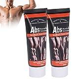 2Pcs 60g Addome Muscle Training Cream Corpo dimagrante Riduzione del grasso Body Shaping Fitness Cream, adatto per striscio Massaggio pancia pancia muscolare dopo l'esercizio