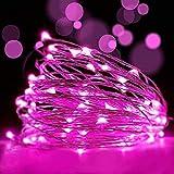 LEDイルミネーションライトAyasoon ジュエリーライト 100球 10m 電池式 リモコン付 8パターン 点滅 点灯 タイマー機能 防水 防塵仕様 屋外 室内 ガーデンライト 正月 クリスマス 飾り ストリングライト (パープル)