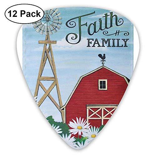 Personalisierte Gitarren-Picks - Faith Family Picks-Zubehör, 12er-Pack