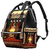 Yuelai Windel Tasche Rucksack Laptop Rucksack Travel Daypack für Damen, Kamin