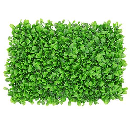 WanuigH-Home Wurzelnackte Grün Hedging 12 Stücke künstliche Boxwood Hedge Mat Pflanzen Panels Privacy Screen UV-Schutz-Zaun Patio Hinterhof Baum Pflanzen (Farbe : Grün, Größe : 60x40cm)