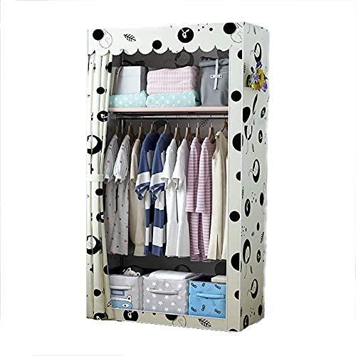 N/Z Home Equipment Klappgarderobe Single Canvas Garderobe Temporäre Kleidung Lagerung Organizer (70 * 45 * 150cm)