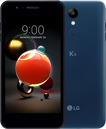 LG LMX210 K9 - Smartphone 5' (Memoria Interna de 16 GB, RAM de 2 GB, Display HD IPS, cámara de 8 MP, Android 7.1.2 (Nougat)), Color marroquí Azul