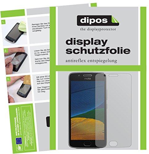 dipos I 2X Schutzfolie matt kompatibel mit Motorola Moto G5 Folie Bildschirmschutzfolie