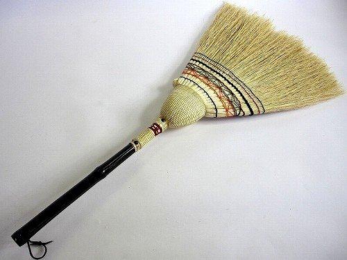 最高品質、手編み座敷箒 はまぐり箒 日光 No.1 ハマグリほうき 草ホーキ