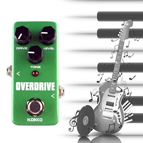 Pedale effetto chitarra, Mini Overdrive Pedale effetto chitarra elettrico Tubo corpo in alluminio True Bypass