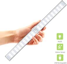 36 LED Closet Light, OxyLED USB Rechargeable Under Cabinet Lightening, Stick-on Cordless Motion Sensor Wardrobe Bar, Super Bright Closet Light with Magnetic Strip