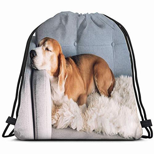 Beagle slaapzak voor de comfortabele sofa dieren Fauna suède rugzak met trekkoord, lichte sporttas voor dames en heren voor sporten, reizen, wandelen, shopping, yoga, 14 x 17 inch