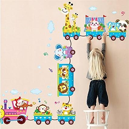 El Animal de la selva Zoo Animales Pegatinas de pared Mono Jirafa Elefante León Conejo Panda vinilos decorativos para Decorar Las habitaciones de los niños, cuarto de niños, bebé, Boys & Girls Dor