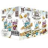 Caja de aperitivos veganos Eat Real 15 unidades - Hummus Chips + Lentil Chips + Quinoa Chips - Sin gluten.