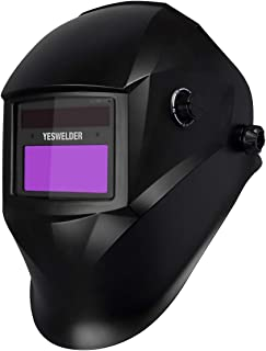 YESWELDER True Color Solar Powered Auto Darkening Welding Helmet, Wide Shade 4/9-13 with Grinding for TIG MIG ARC Weld Hood Welder Mask