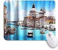 NIESIKKLAマウスパッド 水の都ヴェネツィアの都市世界文化 ゲーミング オフィス最適 高級感 おしゃれ 防水 耐久性が良い 滑り止めゴム底 ゲーミングなど適用 用ノートブックコンピュータマウスマット