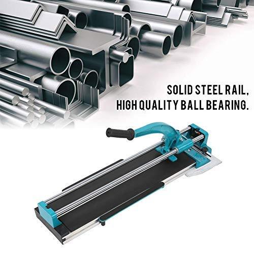 Coupe-carreaux de précision pour carrelage, longueur de coupe de 600 mm avec roulement à billes et fil de coupe en métal dur 0-45 degrés, angle de coupe de 6-16 mm