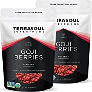 Terrasoul Superfoods Organic Goji Berries, 2 Lbs (2 pack) - Large Size   Chewy Texture   Premium Quality   Lab-Tested…