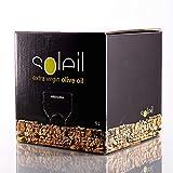 Soleil Bag in box - Aceite de Oliva Virgen Extra de máxima calidad - Nueva cosecha temprana 2019-2020 - Presión en frío y envase sostenible de 5 litros con grifo dosificador
