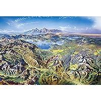 フィットネスバイク 300,500,1000,1500パズルピースのおもちゃ、有名な風景パズル - イエローストーン国立公園、挑戦的なDIYポータブルユニークなギフトホームの装飾 (Color : 300PCS)