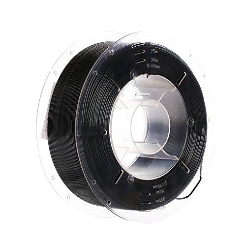 SainSmart PRO-3 - Filamento para impresora 3D que no se enreda, 1,75 mm, PETG negro, bobina de 1 kg, precisión dimensional +/- 0,02 mm