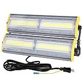 LED 投光器 200W 作業灯 3200w相当 薄型 3mコード付 アース付きプラグ PSE適合 360°回転 耐久性 省エネ 倉庫照明 防犯灯 駐車場灯 屋外作業 BBQ用 2年保証