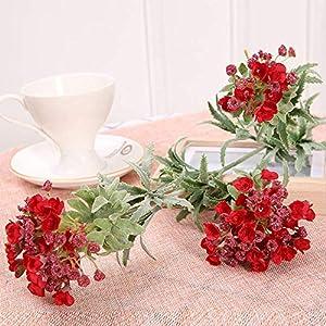 GIAO Artificial Flower Home Decor Artificial Flower Artificial Plant Sweet Snowball Wedding Flower Decorative Flower (3Pcs)