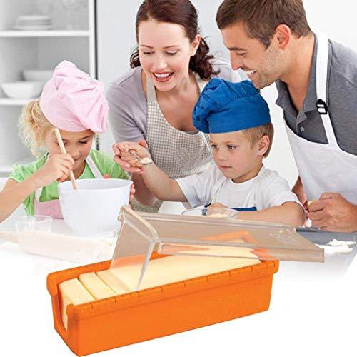 Hahuha Butterschneider, Butter Slicer Cutter Lagerbehälter Maßnahme für Brotkuchen Backwerkzeug, Küche , Esszimmer & Bar