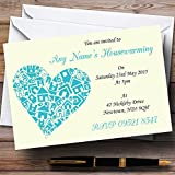 Heart New Home Housewarming Party Personalized Invitations
